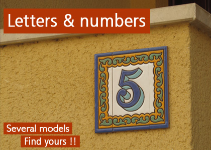 Ceramic letters & numbers