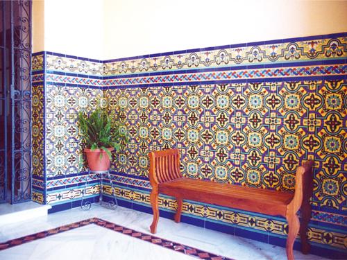 Zócalo de azulejos sevillanos mod.138