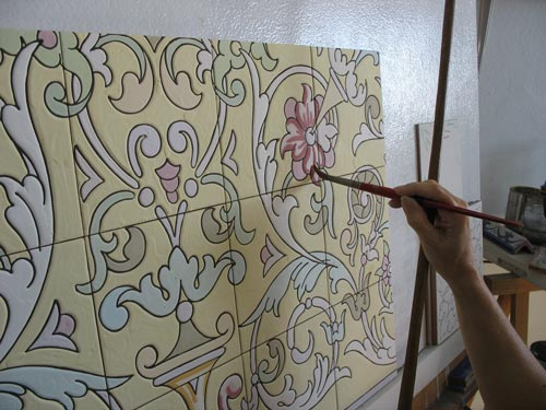 Sombreado de los azulejos